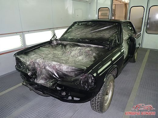Покраска кузова  Mercedes W123 coupe